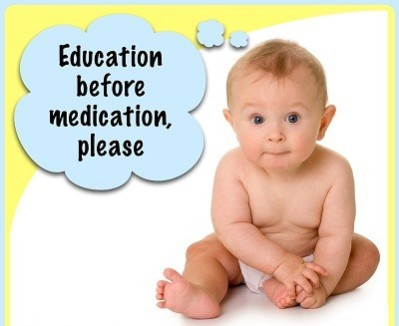 Education before medicationion